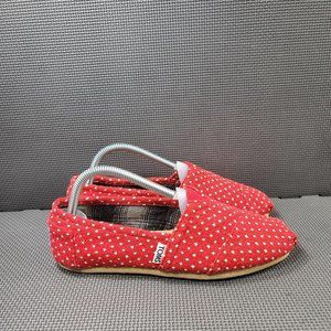 Womens Sz 8 Red Toms Slip On Shoes